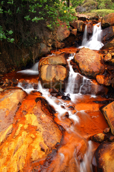 Golden Waterfall Stock photo © leungchopan