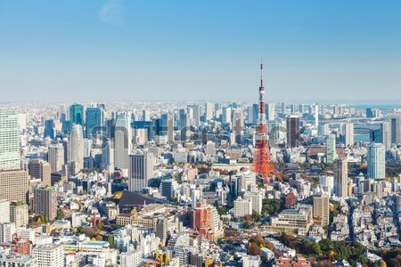 Tokio miasta Japonia niebo budynku projektu Zdjęcia stock © leungchopan