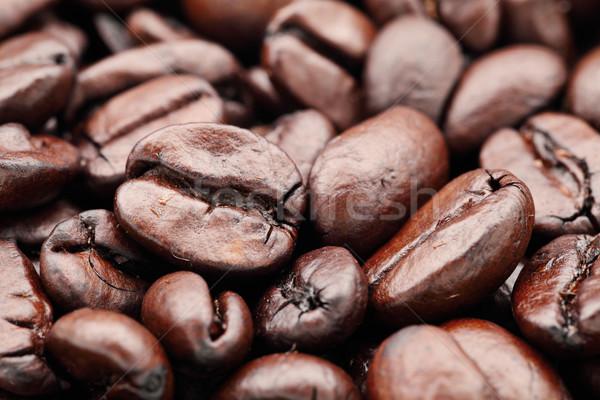 Chicchi di caffè alimentare caffè cafe energia sementi Foto d'archivio © leungchopan