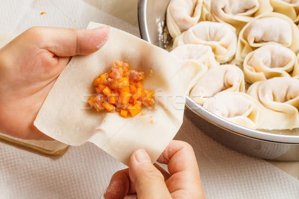 Homemade dumpling Stock photo © leungchopan