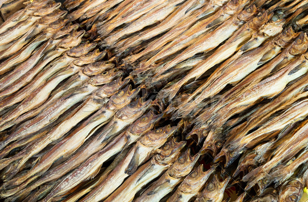Stock photo: Dried salty fish