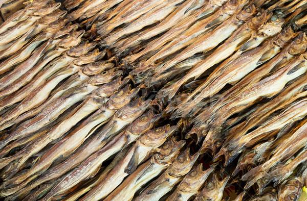 Secas salgado peixe textura mercado rei Foto stock © leungchopan