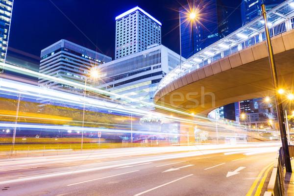 Stok fotoğraf: Trafik · Hong · Kong · gökyüzü · Bina · şehir · karayolu