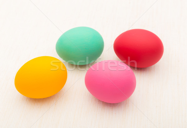 Painted easter egg on linen background Stock photo © leungchopan