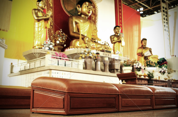 worship seat of chinese temple Stock photo © leungchopan