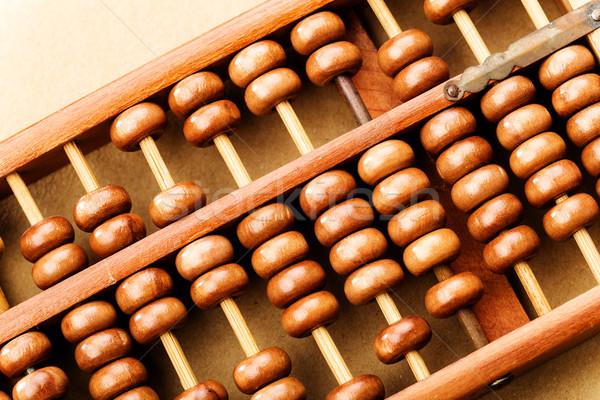 ábaco escritório escolas financiar calculadora chinês Foto stock © leungchopan