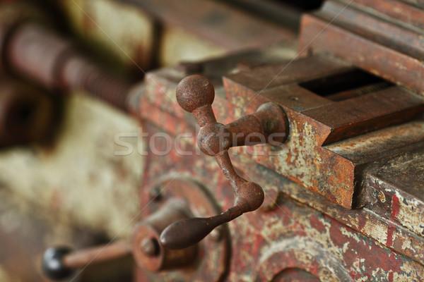 retro factory mechanic Stock photo © leungchopan
