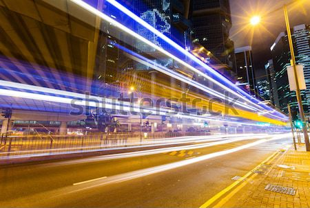 traffic in city at night Stock photo © leungchopan