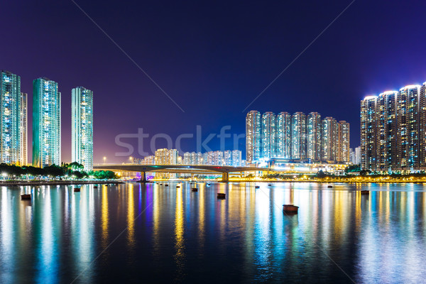 Stok fotoğraf: Yerleşim · Bina · Hong · Kong · su · deniz · okyanus