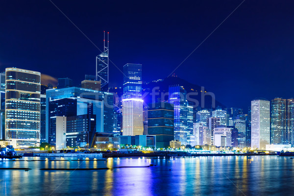 Foto stock: Hong · Kong · linha · do · horizonte · negócio · escritório · edifício · cidade