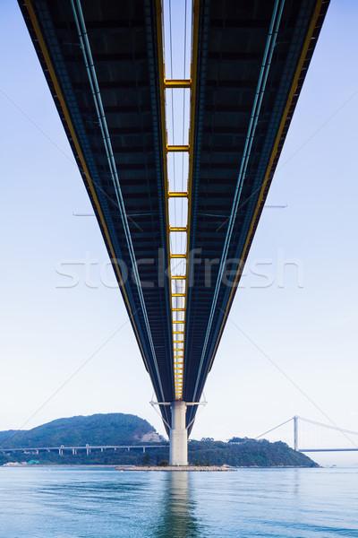 висячий мост Гонконг воды улице морем Сток-фото © leungchopan