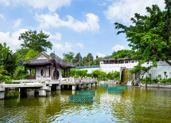 Traditional chinese pavilion Stock photo © leungchopan