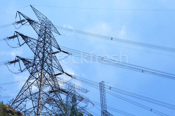 Poder distribuição torre metal rede aço Foto stock © leungchopan