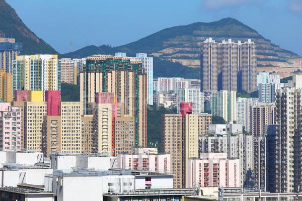 Hong Kong residential building Stock photo © leungchopan