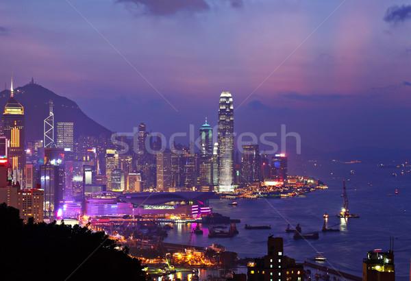 商業照片: 香港 · 夜 · 業務 · 天空 · 辦公室 · 建設