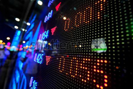 stock market price display abstract Stock photo © leungchopan