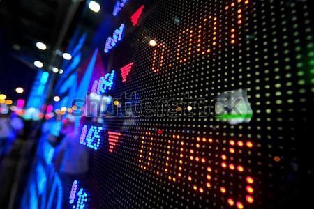 Mercado de ações preço exibir abstrato monitor azul Foto stock © leungchopan