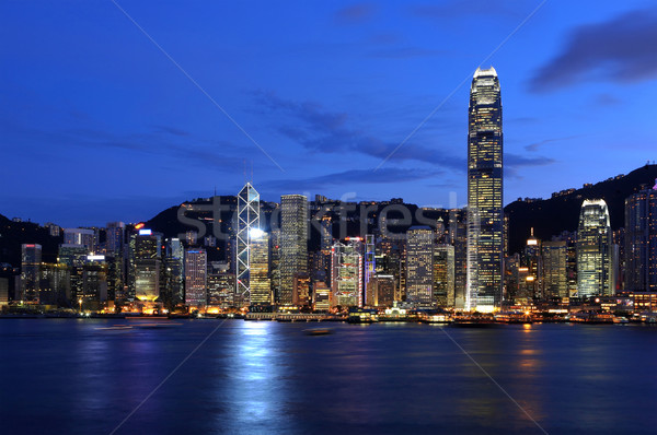 Hong-Kong Skyline affaires bureau bâtiment ville Photo stock © leungchopan