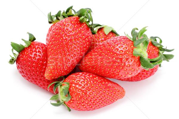 клубника продовольствие фрукты здоровья лет зеленый Сток-фото © leungchopan