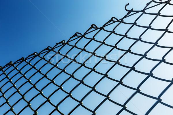 Stok fotoğraf: Açık · zincir · bağlantı · çit · gökyüzü · Metal