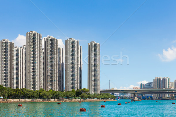 Residential building in Hong Kong Stock photo © leungchopan