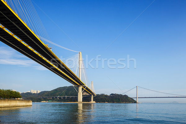 Suspension bridge Stock photo © leungchopan
