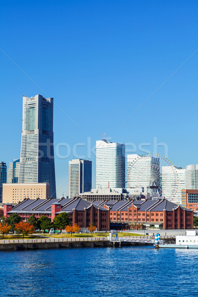 Иокогама город Япония бизнеса здании морем Сток-фото © leungchopan
