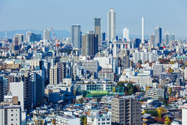 Foto stock: Tóquio · linha · do · horizonte · Japão · negócio · céu · edifício