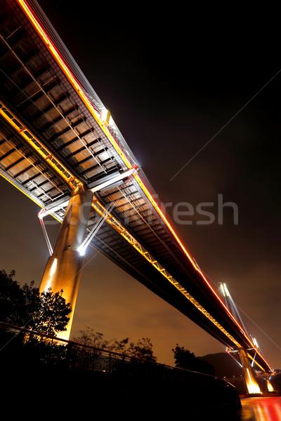 Ting Kau Bridge at night, in Hong Kong Stock photo © leungchopan