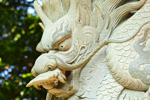 Китайский дракон статуя храма путешествия каменные архитектура Сток-фото © leungchopan