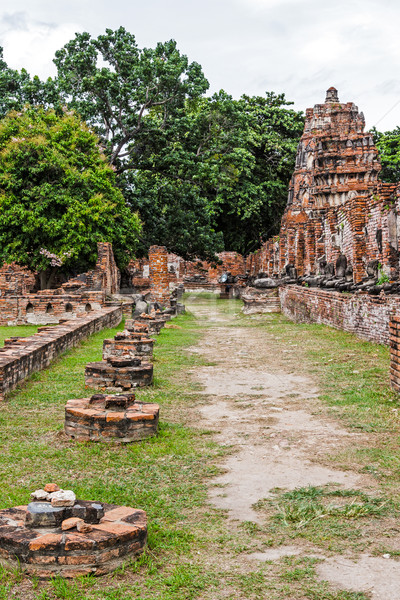 Ancient architecture in Ayutthaya, Thailand Stock photo © leungchopan