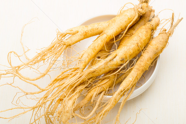 Vers ginseng stick voedsel witte asia Stockfoto © leungchopan