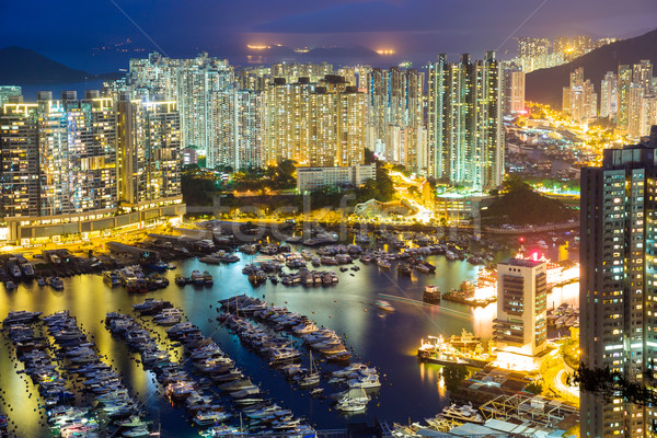 Stok fotoğraf: Hong · Kong · şehir · merkezinde · iş · gökyüzü · Bina · kentsel