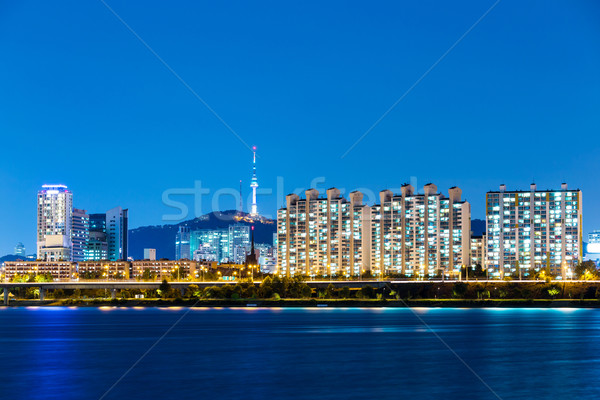 Seoul night Stock photo © leungchopan