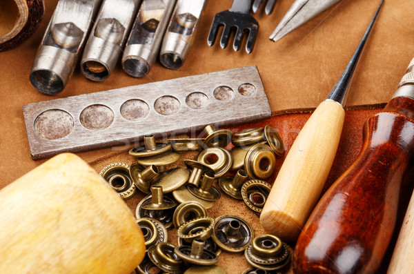 Craft tool for leather accessories Stock photo © leungchopan