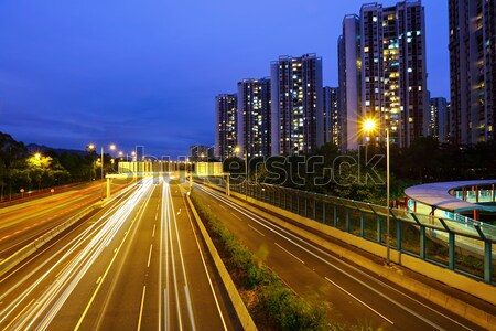 Traffic light on highway Stock photo © leungchopan