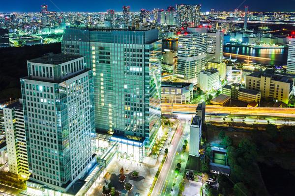 Tokio paisaje urbano noche edificios urbanas luces Foto stock © leungchopan