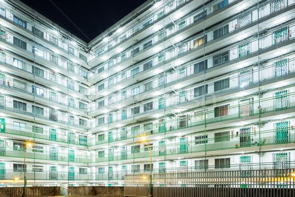Nyilvános lakásügy Hongkong épület város terv Stock fotó © leungchopan