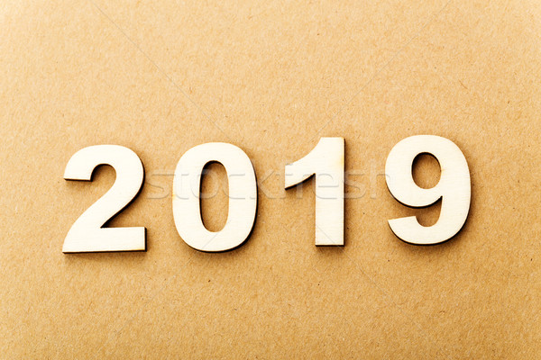 Wooden text for year 2019 Stock photo © leungchopan