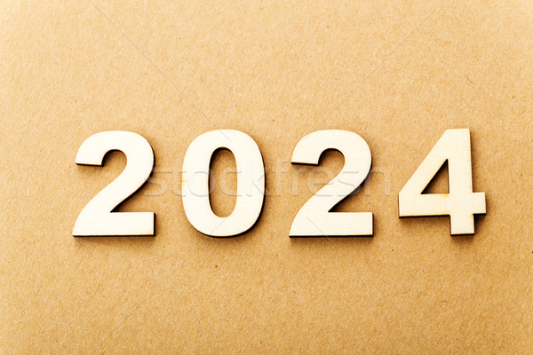 Wooden text for year 2024 Stock photo © leungchopan