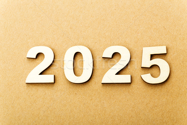 Wooden text for year 2025 Stock photo © leungchopan