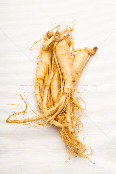 Fraîches ginseng alimentaire médecine blanche Asie Photo stock © leungchopan