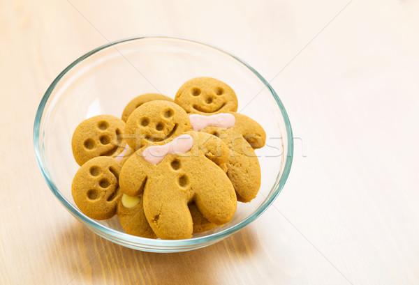 Gingerbread man cookie hiver groupe couleur Noël Photo stock © leungchopan