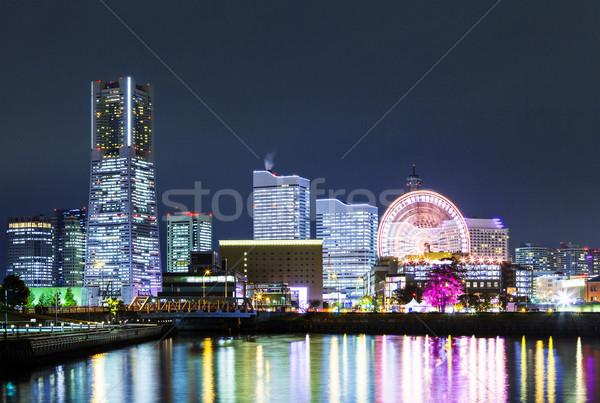 Иокогама ночному городу бизнеса здании город ночь Сток-фото © leungchopan