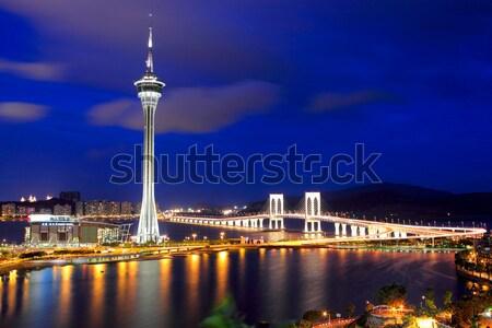 Macau city at night Stock photo © leungchopan