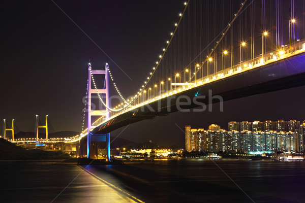 Tsing Ma Bridge in Hong Kong Stock photo © leungchopan