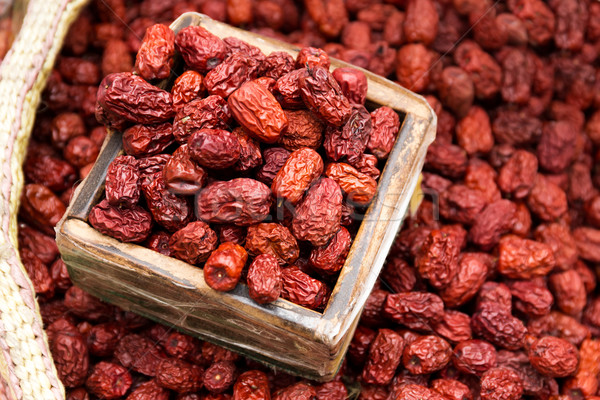 Dried red jujube for sell Stock photo © leungchopan