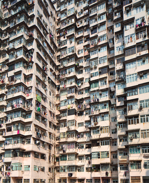 Overcrowded residential building in Hong Kong Stock photo © leungchopan