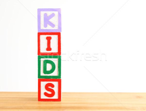 ábécé tömbházak helyesírás szó gyerekek iskola Stock fotó © leungchopan