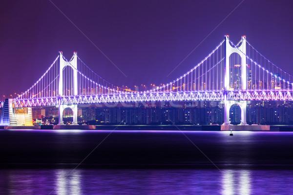 город висячий мост воды дороги здании пейзаж Сток-фото © leungchopan